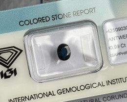 DEEP Blue Thai Sapphire 0.99ct Rare IGI CERTIFIED Oval Cut Loose Gem