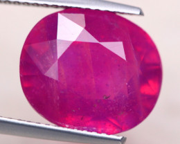 11.19ct Mozambique Ruby Oval Cut Lot D456
