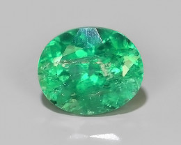 ~EXCELLENT~NATURAL EMERALD ~OVAL~NICE QUALITY GOOD COLOR~COLOMBIA