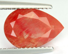 1.75 Cts Natural Greenish Sparkle Red Sunstone Andesine Pear Congo