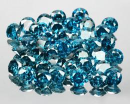 *No Reserve* Diamond 7.68 Cts 40pcs 3.6 MM Sparkling Fancy  Blue Color Natu
