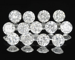0.67 Cts 13pcs 2.4 mm Untreated Fancy White Color Natural Loose Diamond