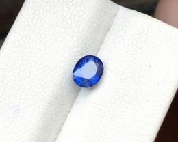 1 Ct Natural Blue Transparent Sapphire Gemstone