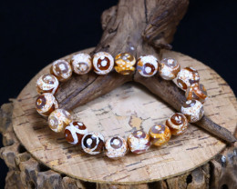 124.85Ct Natural Agate Beads Bracelet B1459