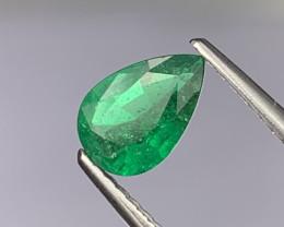 Top Quality Vivid Green Natural Zambian Emerald 0.69 Cts