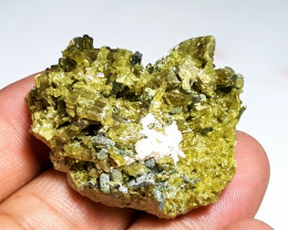 Amazing Natural color Damage free Epidote cluster combine Diposite 134Cts-P