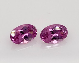 1.06 ct Pink Sapphire Pair - Calibrated