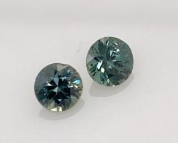 1.28 ct Ceylon Sapphire Matching Pair