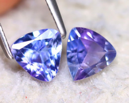 Tanzanite 1.20Ct 2Pcs Natural Purplish Blue Tanzanite E2206/D3