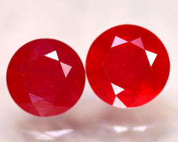 Ruby 7.35Ct 2Pcs Madagascar Blood Red Ruby E2208/A20