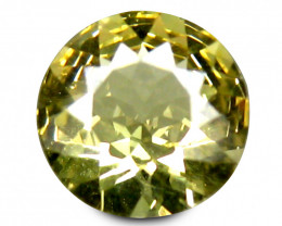 Indian Chrysoberyl  0.65 Cts Canary Green Portuguese cut BGC200
