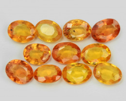 2.07 Cts 10 Pcs Amazing Rare Natural Fancy Orange Sapphire Loose Gemstone
