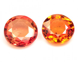 1.07 Cts 2 Pcs Amazing Rare Natural Fancy Orange Sapphire Loose Gemstone