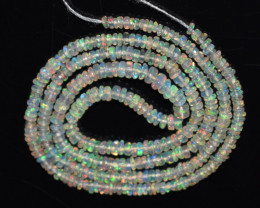 18.15 CT Ethiopian Opal Beads Strand 100% Natural and Untreated Gemstone OB