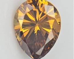 0.31 CTS , Fabulous Fancy Colored Diamond , Pear Brilliant Cut