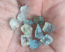 25 CT Aquamarine Rough Gemstones Parcel Genuine Gems VA1350