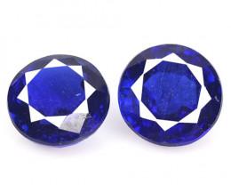 1.73 Cts 2 Pcs Fancy Royal Blue Color Natural Kyanite Gemstone