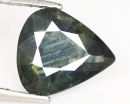 1.46 Cts Amazing Rare Natural Fancy Bluish Green Sapphire Loose Gemstone