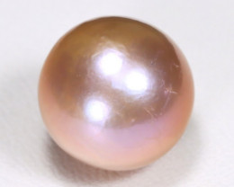 South Sea Pearl 11.8mm Natural Australia Pink Color Salt Water Pearl B1505
