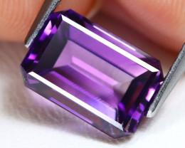 Uruguay Amethyst 3.30Ct VVS Octagon Cut Natural Violet Amethyst AB1597