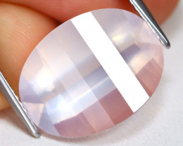 Rose Quartz 8.46Ct Pixalated Cut Natural Pink Rose Quartz B1602