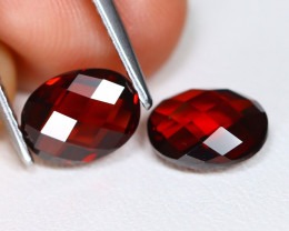 Almandine 3.43Ct VVS Pixalated Cut Natural Almandine Garnet AB1604