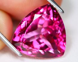 Pink Topaz 7.62Ct VS Trillion Cut Natural Vivid Pink Topaz B1606