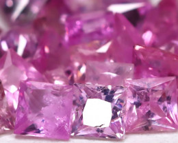 2.86Ct Princess 2.0mm Natural Untreated Pink Color Sapphire AB1612
