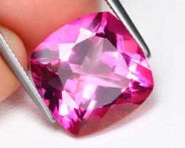 Pink Topaz 10.29Ct VS Square Cut Natural Vivid Pink Topaz B1614