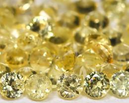 2.07Ct Calibrate 1.7mm Round Natural Ceylon Yellow Sapphire AB1619