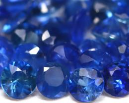 1.52Ct Calibrate 1.8mm Natural Vivid Blue Sapphire Round Lot B1533