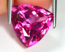 Pink Topaz 9.39Ct VVS Trillion Cut Natural Pink Color Topaz B1576