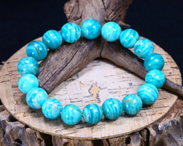 173.60Ct Natural Amazonite Beads Bracelet B1659