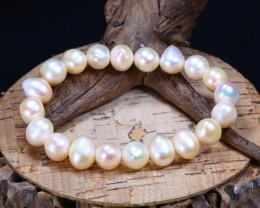 147.45Ct Natural Fresh Water Pearl Beads Bracelet B1661