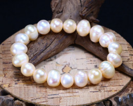 157.80Ct Natural Fresh Water Pearl Beads Bracelet B1664
