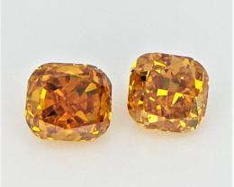 2/0.32 cts , Natural Loose Diamonds , Orange Overtone Diamond