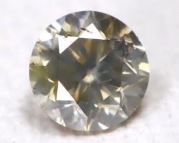 Yellowish Gray Diamond 0.10Ct Natural Untreated Fancy Dimond AB1647