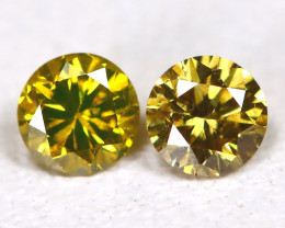 Greenish Yellow Diamond 0.16Ct Natural Untreated Fancy Dimond B1654
