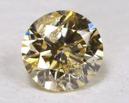 Yellowish Metalic Diamond 0.10Ct Natural Untreated Fancy Dimond B1687
