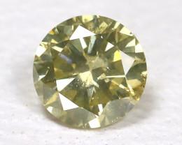 Greenish Yellow Diamond 0.13Ct Natural Untreated Fancy Dimond B1669