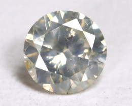Yellowish White  Diamond 0.17Ct Natural Untreated Fancy Dimond B1675