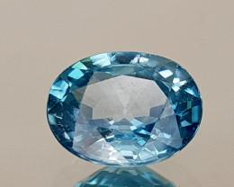 1.81Crt Blue Zircon Natural Gemstones JI25