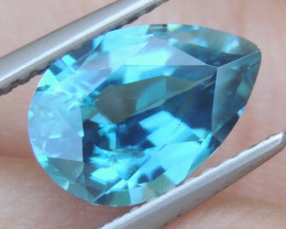 3.33cts, Natural Blue Zircon
