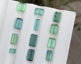 12  Carats Green & blue colour Tourmaline Gemstone From Afghanistan