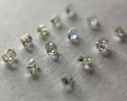 0.09 ct 13 x Antique Early Elongated French Cut Diamonds