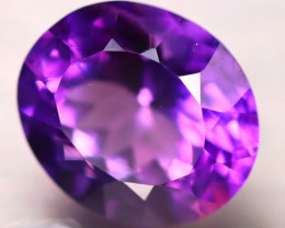 Amethyst 4.28Ct Natural Uruguay VVS Electric Purple Amethyst D2304/A2