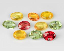 *NoReserve*Sapphire 2.00 Cts 10pcs Natural Fancy Mix Color Gemstone