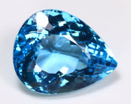 Swiss Blue Topaz 23.12Ct VS Pear Cut Natural Swiss Blue Topaz B1710