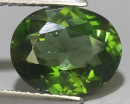 3.25 CTS GENUINE TOP GREEN COLOR APATITE OVAL GEM BRAZIL