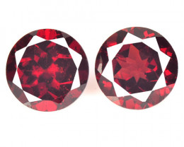 3.36 Cts 2 Pcs Unheated Natural Cherry Pinkish Red Rhodolite Garnet Gemston